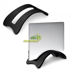 Drevený stojan na tablet / laptop / notebook / Macbook – dub čierny (typ 2)