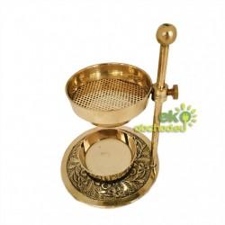 Kadidelnica Royal BAKHOOR zlatá mosadz 15cm