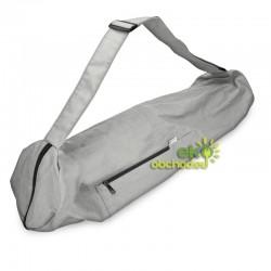 Bavlnená taška na športovú podložku pre cvičenie jógy - svetlo-šedá