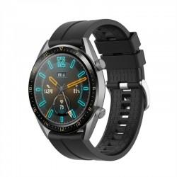 Silikónový remienok (šírka 22mm) – čierna – Samsung Gear S3 / Watch 46mm / Huawei Watch GT / Vantage M / Watch 3 45mm