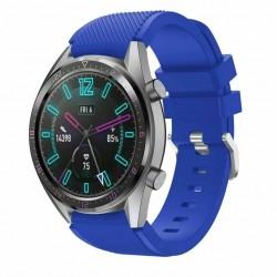 Silikónový remienok (šírka 22mm) – modrá – Samsung Gear S3 / Watch 46mm / Huawei Watch GT / Vantage