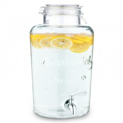8 litrový sklenený zásobník na nápoje s kohútikom – Navaris