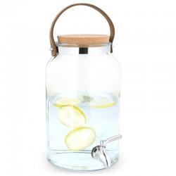 5,6 litrový sklenený zásobník na nápoje s kohútikom a korkovým uzáverom – Navaris
