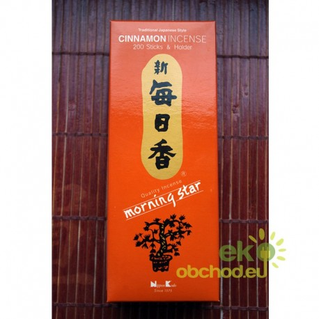 Vonné tyčinky - Morning Star CINNAMON, Nippon Kodo - 200ks