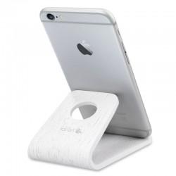 Drevený stojan pre mobily / tablety / čítačky e-kníh – Kalibri - dub biela