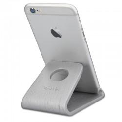 Drevený stojan pre mobily / tablety / čítačky e-kníh – Kalibri - dub strieborná