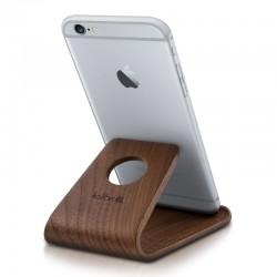 Drevený stojan pre mobily / tablety / čítačky e-kníh – Kalibri orech