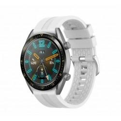 Silikónový remienok (šírka 22mm) – biela – Samsung Gear S3 / Watch 46mm / Huawei Watch GT / Vantage