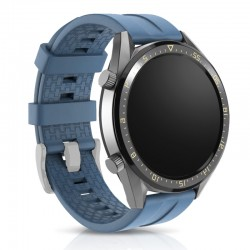 Silikónový remienok (šírka 22mm) – modro-šedá – Samsung Gear S3 / Watch 46mm / Huawei Watch GT