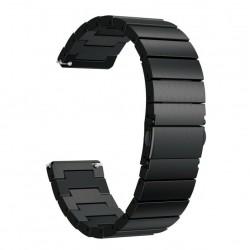 Kovový remienok (šírka 22mm) – Full Clasp čierna – Samsung Gear S3 / Watch 46mm / Huawei Watch GT