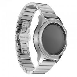 Kovový remienok (šírka 22mm) – Full Clasp strieborná – Samsung Gear S3 / Watch 46mm