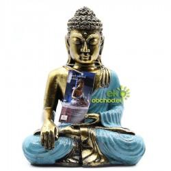 Buddha modro-zlatý – Veľký
