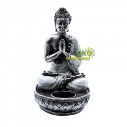 Buddha svietnik - Biely - Stredný