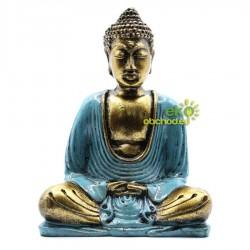 Buddha modro-zlatý – Stredný