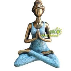 Lady Joga figúrka – bronzovo-tyrkysová – 24cm