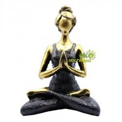 Lady Joga figúrka – bronzovo-čierna – 24cm