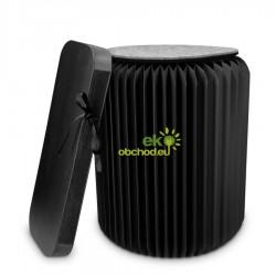 Skladací stolček Kraft z papiera / otoman s vankúšom - Navaris – nosnosť do 300kg