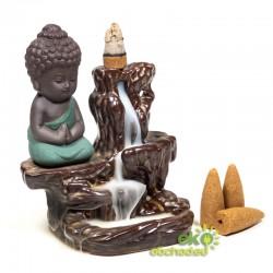 Stojan pre vonné kužele tečúci dym – Malý Buddha