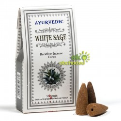 Vonné kužele tečúci dym Ayurvedic – Šalvia biela – 10ks