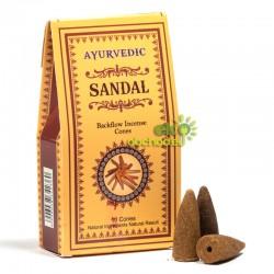 Vonné kužele tečúci dym Ayurvedic – Santalové drevo– 10ks