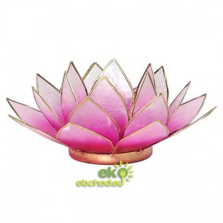 Svietnik Lotosový kvet 13,5cm – svetlo-ružový