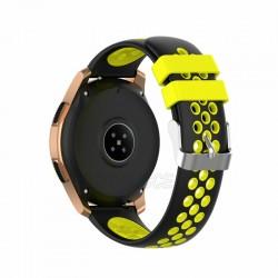 Silikónový remienok (šírka 20mm) – čierno-žltá – Huawei Watch GT2 (42mm) / Samsung Watch 3 41mm