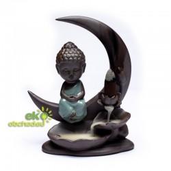 Stojan pre vonné kužele tečúci dym – Malý Buddha na mesiaci
