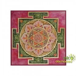 Dekoratívna samolepka - Mandala Kamala - ružová