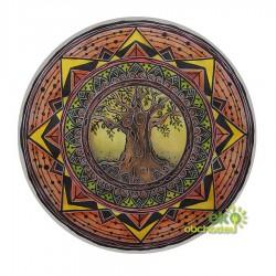 Dekoratívna samolepka - Strom života v kmeni - hnedá
