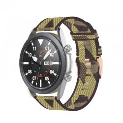 Nylonový remienok (šírka 22mm) – čierno-biela – Huawei Watch GT2 / Samsung Watch 3 45mm / Watch 46mm