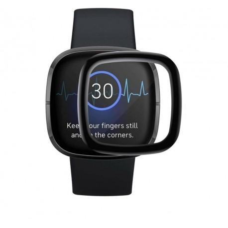 Ochranné temperované sklo Fitbit Versa 3 / Sense – čierna