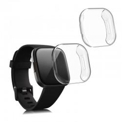Silikónový obal Fitbit Versa 3 / Sense – priehľadná (2ks)