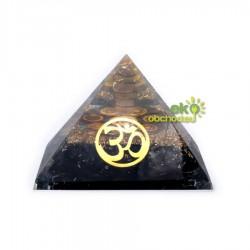 Orgonitová čakrová pyramída s čiernym turmalínom – ÓM