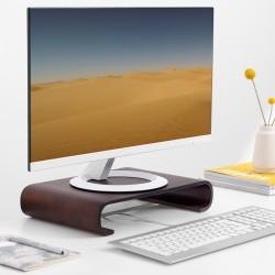 Drevený stojan pod monitor / notebook / Macbook – dub hnedá (typ 2)