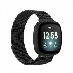Kovový remienok Fitbit Versa 3 / Sense – Magnetic – čierna