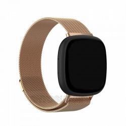 Kovový remienok Fitbit Versa 3 / Sense – Magnetic – zlato-ružová
