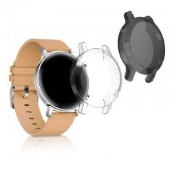 Silikónový obal Huawei Watch GT2 (42mm) – priehľadná / čierna (2ks)