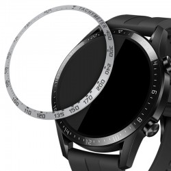 Rámček hodiniek (Bezel) pre Huawei Watch GT2 (46mm) – Tachymeter – strieborná
