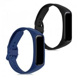 Silikónový remienok Samsung Galaxy Fit2 (SM-R220) – sada 2ks (čierna,modrá)