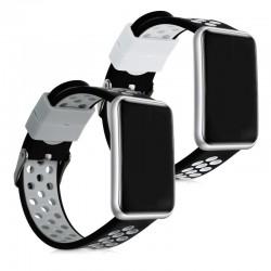 Silikónový remienok Huawei Watch Fit – Perforated (čierno-šedá,čierno-biela)