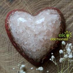 Priestorový orgonit – Srdce veľké s ruženínom - červené