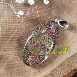 Orognitový prívesok - 7 kameňov Čakry so stromom života