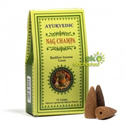 Vonné kužele tečúci dym Ayurvedic – Nag Champa – 10ks
